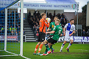 Bristol Rovers Goalkeeper, Joe Lumley (31) makes a catch from a cross during the EFL Sky Bet League 1 match between Bristol Rovers and Scunthorpe United at the Memorial Stadium, Bristol, England on 25 February 2017. Photo by Adam Rivers.