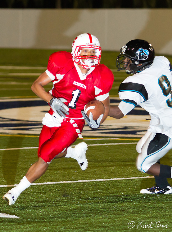 High school football with Palm Bay Bayside against Seabreeze at Municipal Stadium in Daytona Beach on Thursday, Oct. 13, 2011. Seabreeze won 35-31.