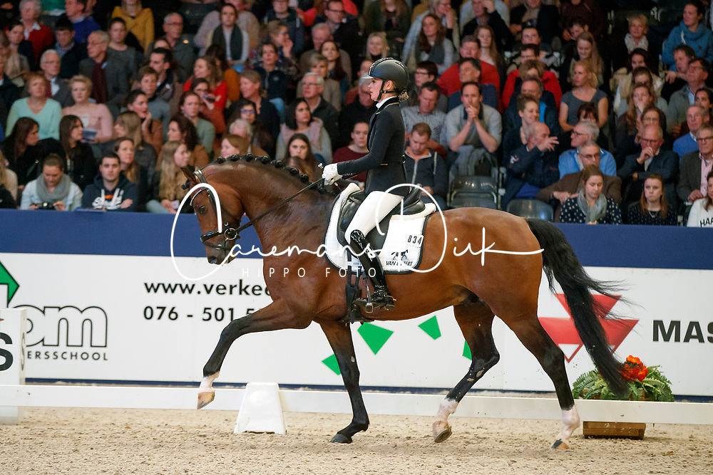 Van Vliet Renate, NED, In Style<br /> KWPN Stallionshow - 's Hertogenbosch 2018<br /> © Hippo Foto - Dirk Caremans<br /> 02/02/2018