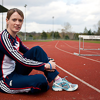 Scottish 400m hurdler Eilidh Child. Eilidh is currently no.1 in Scotland and no.3 in the UK for women's 400m hurdles.