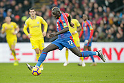 Crystal Palace defender Mamadou Sakho (12) makes a pass during the Premier League match between Crystal Palace and Chelsea at Selhurst Park, London, England on 30 December 2018.