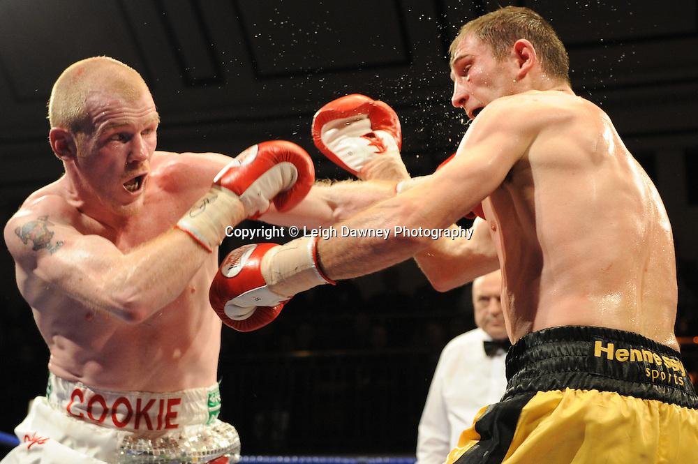 Lenny Daws defeats Jason Cook at York Hall, Bethnal Green, London on the 12th February 2010 Matchroom Sport. Photo credit: © Leigh Dawney