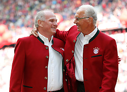 14.05.2016, Allianz Arena, Muenchen, GER, 1. FBL, FC Bayern Muenchen vs Hannover 96, 34. Runde, im Bild Uli Hoeness und Franz Beckenbauer // during the German Bundesliga 34th round match between FC Bayern Munich and Hannover 96 at the Allianz Arena in Muenchen, Germany on 2016/05/14. EXPA Pictures © 2016, PhotoCredit: EXPA/ SM<br /> <br /> *****ATTENTION - OUT of GER*****