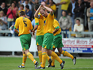 Dartford - Saturday July 11 2009: Gary Doherty of Norwich City celebrates his goal during the friendly match at Princes Park. (Pic by Alex Broadway/Focus Images)..