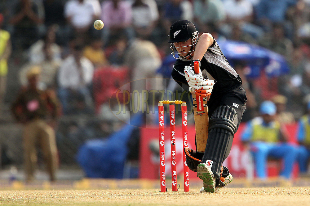 Kane Williamson of New Zealand  during the 1st ODI (One Day International ) between India and New Zealand held at the Nehru Cricket Stadium in Guwahati, Assam, India on the 28th  November 2010..Photo by Ron Gaunt/BCCI/SPORTZPICS