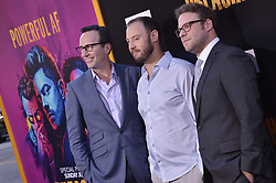 "(L-R) Charlie Collier, Evan Goldberg and Seth Rogen together at AMC's ""Preacher"" Season 2 Premiere Screening held at the Theater at the Ace Hotel in Los Angeles, CA on Tuesday, June 20, 2017.  (Photo By Sthanlee B. Mirador) *** Please Use Credit from Credit Field ***"