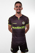 Forest Green Rovers Liam Shephard(2) wearing the new kit for the 2018/19 season during the 2018/19 official team photocall for Forest Green Rovers at the New Lawn, Forest Green, United Kingdom on 30 July 2018. Picture by Shane Healey.