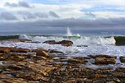 Waves breaking at Seawall, Acadia National Park, Maine