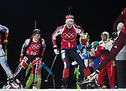 PYEONGCHANG-GUN, SOUTH KOREA - FEBRUARY 20: Marte Olsbu of Norway during the Biathlon 2x6km Women + 2x7.5km Men Mixed Relay at Alpensia Biathlon Centre on February 20, 2018 in Pyeongchang-gun, South Korea. Foto: Nils Petter Nilsson/Ombrello                    ***BETALBILD***