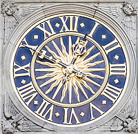 Detail shot of clock face
