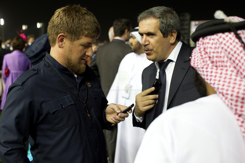 Chechen president Ramzan Kadyrov at Dubai World Cup.