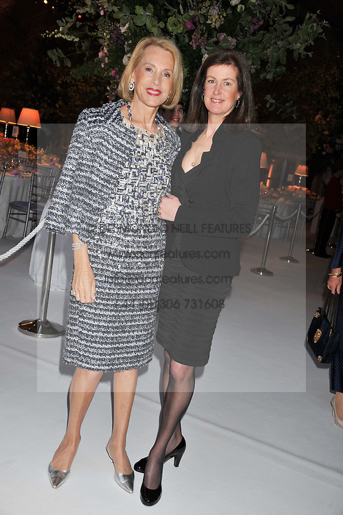 Left to right, LUCE CHURCHILL and LADY HENRIETTA SPENCER-CHURCHILL at a dinner hosted by Cartier following the following the opening of the Chelsea Flower Show 2012 held at Battersea Power Station, London on 21st May 2012.