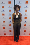 Kimberly Brooks, host and correspondent for Fusion Network, on the red carpet at the fourth annual Muhammad Ali Humanitarian Awards Saturday, Sept. 17, 2016 at the Marriott Hotel in Louisville, Ky. (Photo by Brian Bohannon for the Muhammad Ali Center)