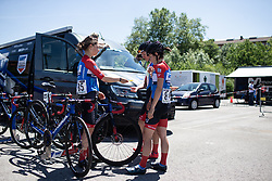 WNT Rotor Pro Cycling riders prepare for Stage 1 of 2019 Emakumeen Bira, a 101 km road race starting and finishing in Iurreta, Spain on May 22, 2019. Photo by Balint Hamvas/velofocus.com