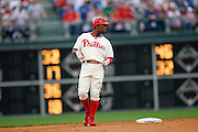 27 Sept 2008: Philadelphia Phillies shortstop Jimmy Rollins #11 during the game against the Washington Nationals on September 27th, 2008. The Phillies won 4-3 to clinch the National League Eastern Division title at Citizens Bank Park in Philadelphia, Pennsylvania