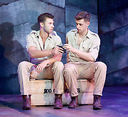 Yank!<br />  by <br /> at the Charing Cross Theatre, London<br /> 6th July 2017 <br /> press photocall <br />  <br /> A poignant original, musical and love story based on the true, hidden history of gay soldiers during World War Two. It transfers to London following a UK spring premi&egrave;re at Hope Mill Theatre in Manchester which received extensive critical acclaim.<br /> <br />  Scott Hunter as Stu <br /> Andy Coxon as Mitch <br /> <br /> <br /> <br />  <br /> <br /> Photograph by Elliott Franks <br /> Image licensed to Elliott Franks Photography Services