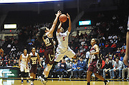 "Mississippi Lady Rebels guard Erika Sisk (5) vs. Mississippi State Lady Bulldogs guard Dominique Dillingham (00) at the C.M. ""Tad"" Smith Coliseum in Oxford, Miss. on Thursday, January 22, 2015. (AP Photo/Oxford Eagle, Bruce Newman)"