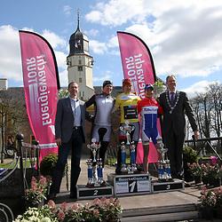 Energiewacht Tour 2012 final podium 1th Ina Yoko Teutenberg, 2nd Ellen van Dijk and 3th Marianne Vos