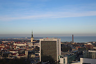 View of Tallinn from the Radisson Blu Sky café lounge, Tallinn, Estonia