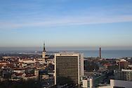 View of Tallinn from the Radisson Blu Sky café lounge, Tallinn, Estonia
