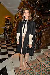 DASHA ABRAMOVICH at a party to celebrate theunveiling of the Claridge's Christmas Tree designed by Christopher Bailey for Burberryheld at Claridge's, Brook Street, London on 18th November 2015.