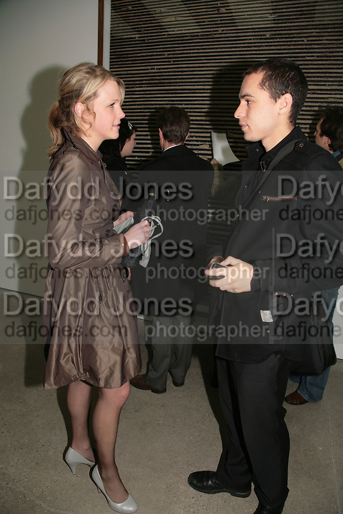 Erin Small and Marcus Dubois, Andreas Gursky.White Cube, Mason's Yard. London. 22 March 2007.   -DO NOT ARCHIVE-© Copyright Photograph by Dafydd Jones. 248 Clapham Rd. London SW9 0PZ. Tel 0207 820 0771. www.dafjones.com.