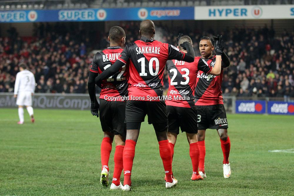 Claudio BEAUVUE  - 24.01.2015 - Guingamp / Lorient - 22eme journee de Ligue1<br />Photo : Vincent Michel / Icon Sport