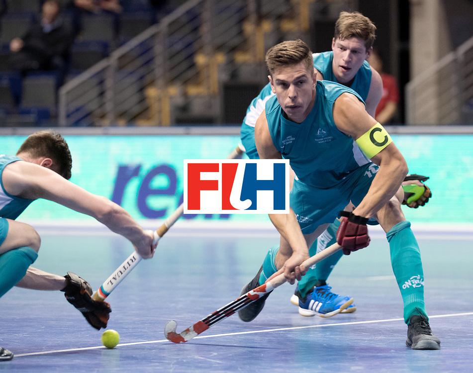 BERLIN - Indoor Hockey World Cup<br /> Men: Australia - Czech Republic<br /> foto: Heath Ogilvie.<br /> WORLDSPORTPICS COPYRIGHT FRANK UIJLENBROEK