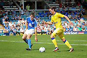 Leeds no 9 Marcus Antonsson in the  Friendly match between Peterborough United and Leeds United at London Road, Peterborough, England on 23 July 2016. Photo by Nigel Cole.