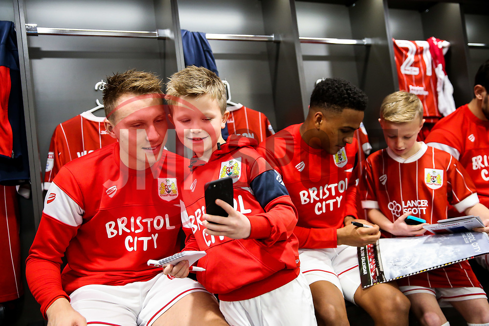 Cauley Woodrow of Bristol City looks on during the Mascot dressing room visit - Rogan/JMP - 27/01/2018 - Ashton Gate Stadium - Bristol, England - Bristol City v Queens Park Rangers - Sky Bet Championship.