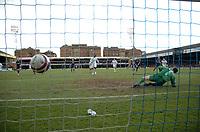 Photo: Tony Oudot/Richard Lane Photography. <br /> Southend United v Swansea City. Coca-Cola League One. 21/03/2008. <br /> Jason Scotland scores from the penalty spot