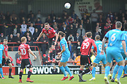 Morecambe Midfielder,  Alex Kenyon (4) during the EFL Sky Bet League 2 match between Morecambe and Barnet at the Globe Arena, Morecambe, England on 28 April 2018. Picture by Mark Pollitt.