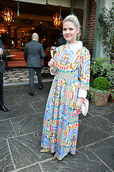 SOPHIE GASS at a party to celebrate 'A Year In The Garden' celebrating the first year of The Ivy Chelsea Garden, 197 King's Road, London on 16th May 2016.