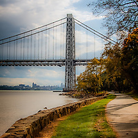 The George Washington Bridge in Fall.