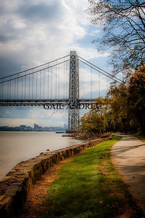 The George Washington Bridge in Fall.