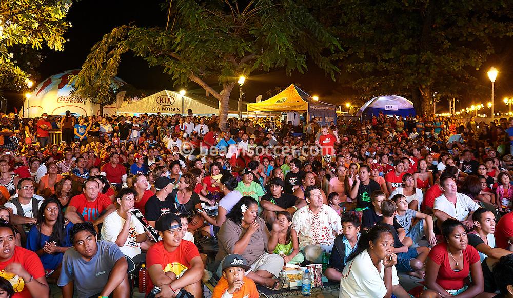PAPEETE, TAHITI - SEPTEMBER 27:  FIFA Beach Soccer World Cup Tahiti 2013 at Stadium Tahua To´ata  on September 27, 2013 in Papeete, Tahiti. (Photo by Manuel Queimadelos)