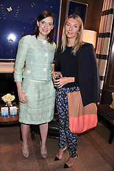 Left to right, MARY SKINNER and ROBERTA BENTELER at a lunch to announce the partnership between Creme de la Mer and BLUE Marine Foundation held at Sotheby's 34-35 New Bond Street, London on 18th May 2012.