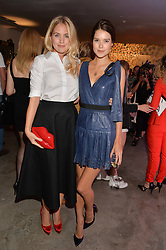 Left to right, MARISSA MONTGOMERY and SARAH ANN MACKLIN at the launch of The Lulu Perspective to celebrate 25 years of Lulu Guinness held at 74a Newman Street, London on 13th September 2014.
