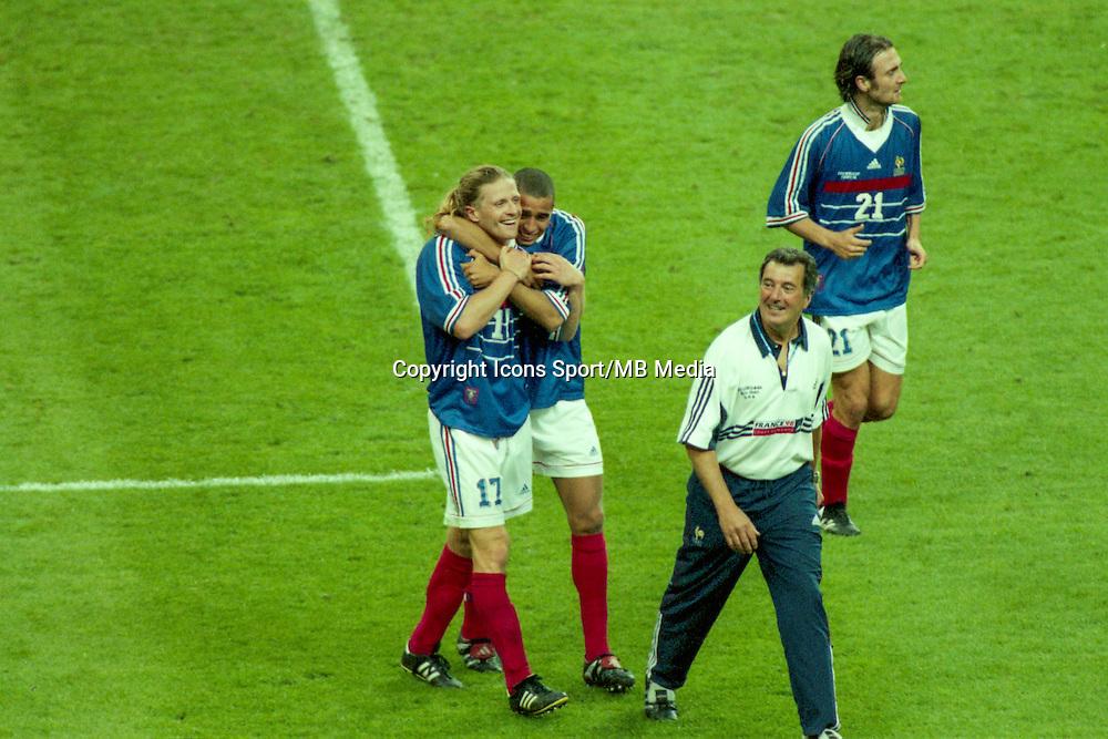 David Trezeguet / Emmanuel Petit / Christophe Dugarry / Roger Lemerre - 12.07.1998 - France / Bresil - Finale Coupe du Monde 1998<br />Photo : Christian Gavelle / Icon Sport