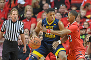 LUBBOCK, TX - JANUARY 13: Sagaba Konate #50 of the West Virginia Mountaineers posts up against Jarrett Culver #23 of the Texas Tech Red Raiders during the game on January 13, 2018 at United Supermarket Arena in Lubbock, Texas. Texas Tech defeated West Virginia 72-71. (Photo by John Weast/Getty Images) *** Local Caption *** Sagaba Konate;Jarrett Culver