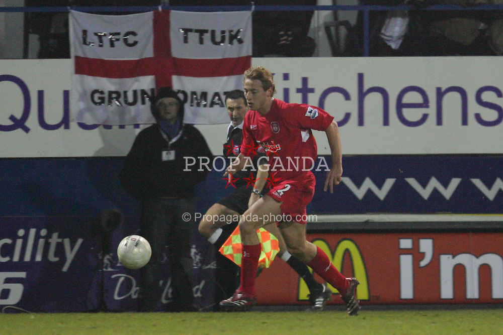 LUTON, ENGLAND - SATURDAY, JANUARY 7th, 2006: Liverpool's Jan Kromkamp in action on his debut against Luton Town during the FA Cup 3rd Round match at Kenilworth Road. (Pic by David Rawcliffe/Propaganda)