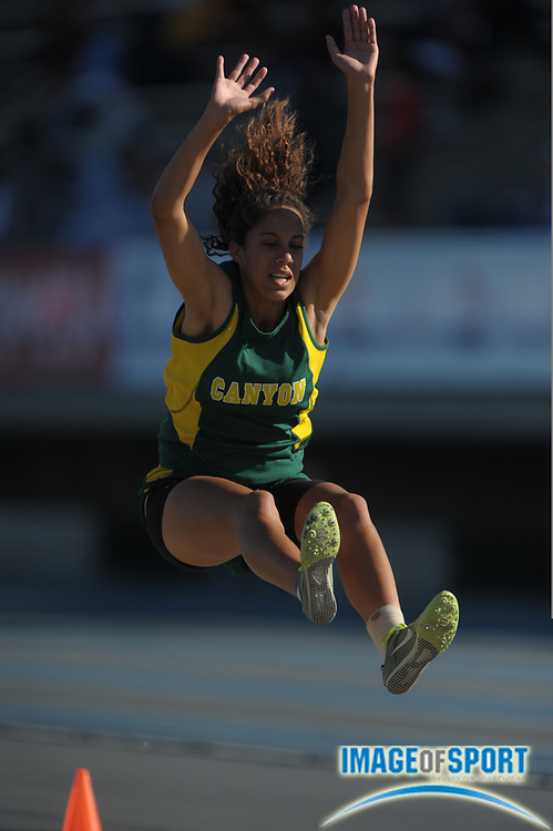 May 28, 2010; Norwalk, CA, USA; Tiffini Stone of Canyon Country Canyon was 10th in the girls' long jump at 17-4 3/4 in the CIF Southern Section Masters Meet at Cerritos College.