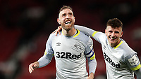 Football - 2018 / 2019 EFL Carabao Cup (League Cup) - Third Round: Manchester United vs. Derby County<br /> <br /> Richard Keogh of Derby County celebrates at Old Trafford.<br /> <br /> COLORSPORT/LYNNE CAMERON