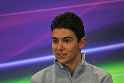 Esteban Ocon (FRA) Manor Racing in the FIA Press Conference.<br /> 27.10.2016. Formula 1 World Championship, Rd 19, Mexican Grand Prix, Mexico City, Mexico, Preparation Day.<br /> Copyright: Photo4 / XPB Images / action press