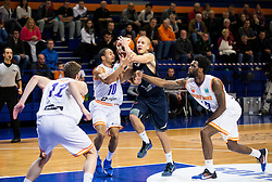 Thomas Laerke of Bakken Bears between Brandyn Theodore Curry #10 of Helios Suns and Cory Olawale Remekun #15 of Helios Suns during basketball match between KK Helios Suns (SLO) and Bakken Bears (DEN) in Round #4 of FIBA Champions League 2016/17, on November 8, 2016 in Sports Hall Domzale, Slovenia. Photo by Vid Ponikvar / Sportida