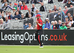 Cameron Steel of Durham Jets catches out Dane Vilas of Lancashire Lightning (Not Pictured) off the bowling of Ryan Pringle (Not Pictured) - Mandatory by-line: Jack Phillips/JMP - 23/07/2017 - CRICKET - Emirates Old Trafford - Manchester, United Kingdom - Lancashire Lightning v Durham Jets - Natwest T20 Blast