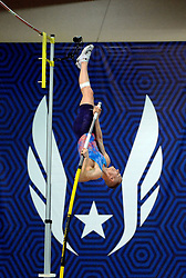 February 17, 2018 - Albuquerque, NM, U.S. - Sam Kendricks takes it up and over the bar in the men's pole vault championships at the USATF Indoor Championships. Saturday, Feb. 17,  2018. (Credit Image: © Jim Thompson/Albuquerque Journal via ZUMA Wire)