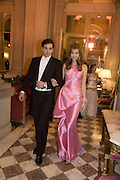 GUILHERME FRERING AND MARIA-TERESA FRERING, Crillon Debutante Ball 2007,  Crillon Hotel Paris. 24 November 2007. -DO NOT ARCHIVE-© Copyright Photograph by Dafydd Jones. 248 Clapham Rd. London SW9 0PZ. Tel 0207 820 0771. www.dafjones.com.