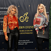 Mia Rothwell and Gabriella Melrose attend the Luxury Fashion Networking hosts at IC Show with X Factor Singers Fashio9n Show ahead of LFW Winter 2019 with amazing crowded at the heart of Soho, London, UK. 11 Feb 2019.