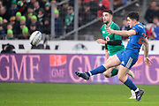 Anthony Belleau (FRA) kicked the ball, Conor Murray (IRL) during the NatWest 6 Nations 2018 rugby union match between France and Ireland on February 3, 2018 at Stade de France in Saint-Denis, France - Photo Stephane Allaman / ProSportsImages / DPPI
